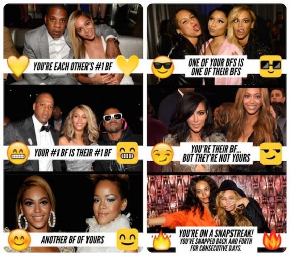 Snapchat uitleg celebs